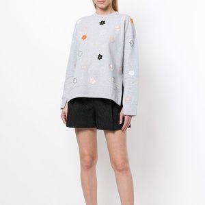 Kenzo Paris Grey Jackie Flowers Sweatshirt XL